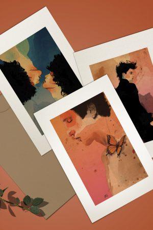 Set of three 5×7 prints